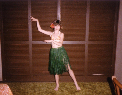A young keiki, age 9, on her first trip to Hawaii!